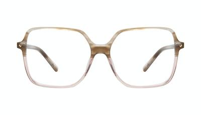 Affordable Fashion Glasses Square Eyeglasses Women Major Rosewood Front