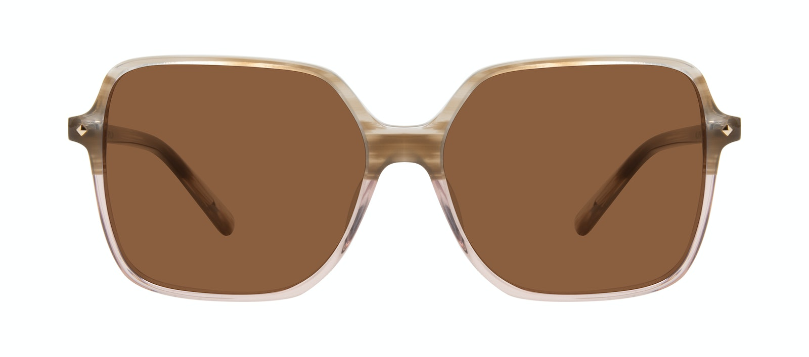 Affordable Fashion Glasses Square Sunglasses Women Major Rosewood Front