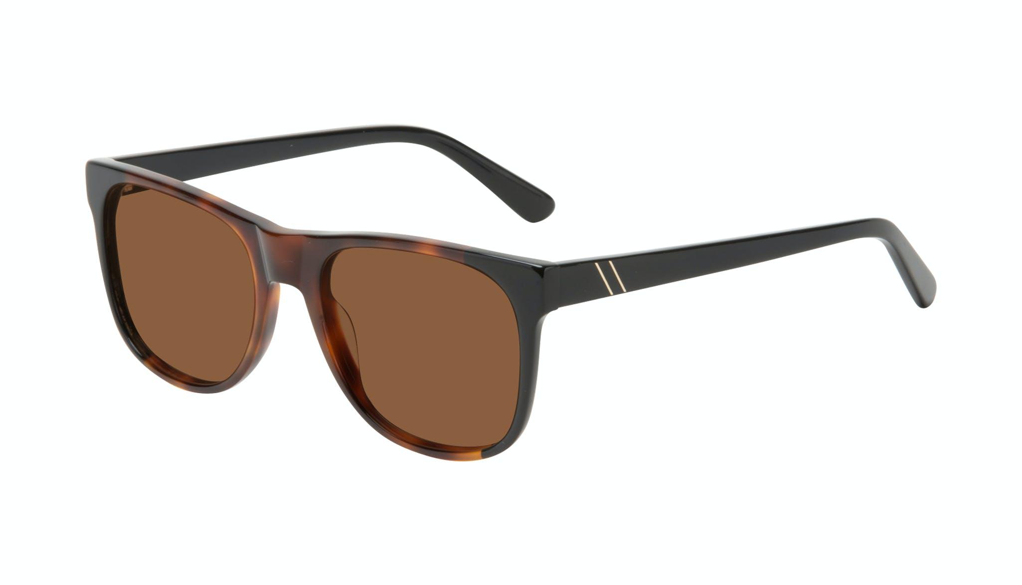 Affordable Fashion Glasses Square Sunglasses Men Make Black Tort Tilt