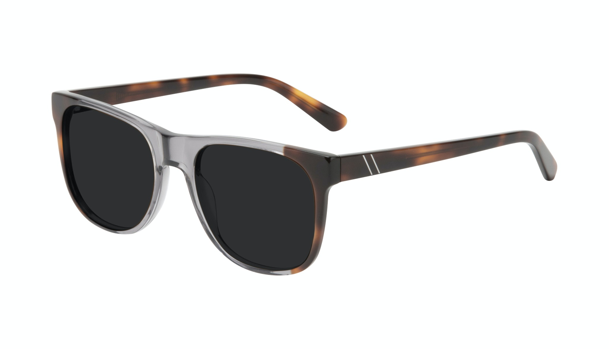 Affordable Fashion Glasses Square Sunglasses Men Make Smokey Tort Tilt