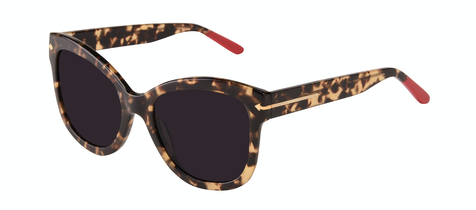 Affordable Fashion Glasses Square Sunglasses Women Marlo Espresso Tilt