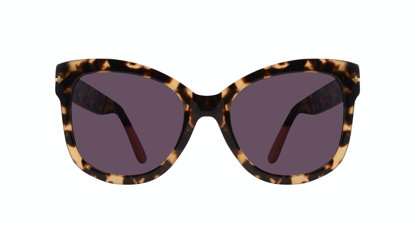 Affordable Fashion Glasses Cat Eye Square Sunglasses Women Marlo Espresso Front