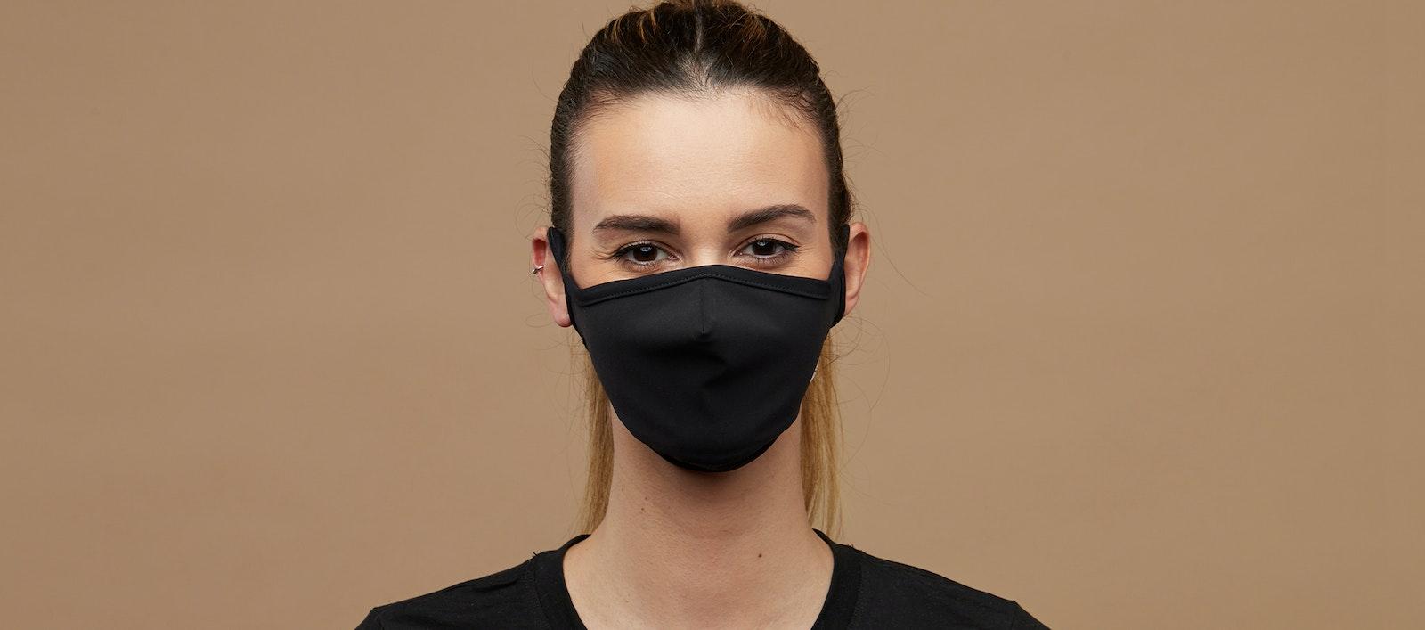 Affordable Fashion Glasses Accessory Men Women BonLook Mask Black Front