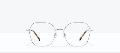 Affordable Fashion Glasses Square Eyeglasses Women Mersey Platinum Front