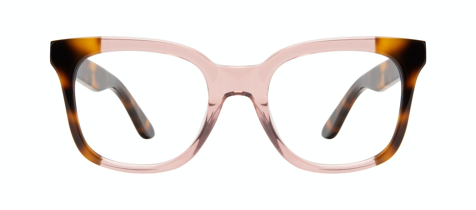 Affordable Fashion Glasses Square Eyeglasses Women Mighty Rose Tort Front