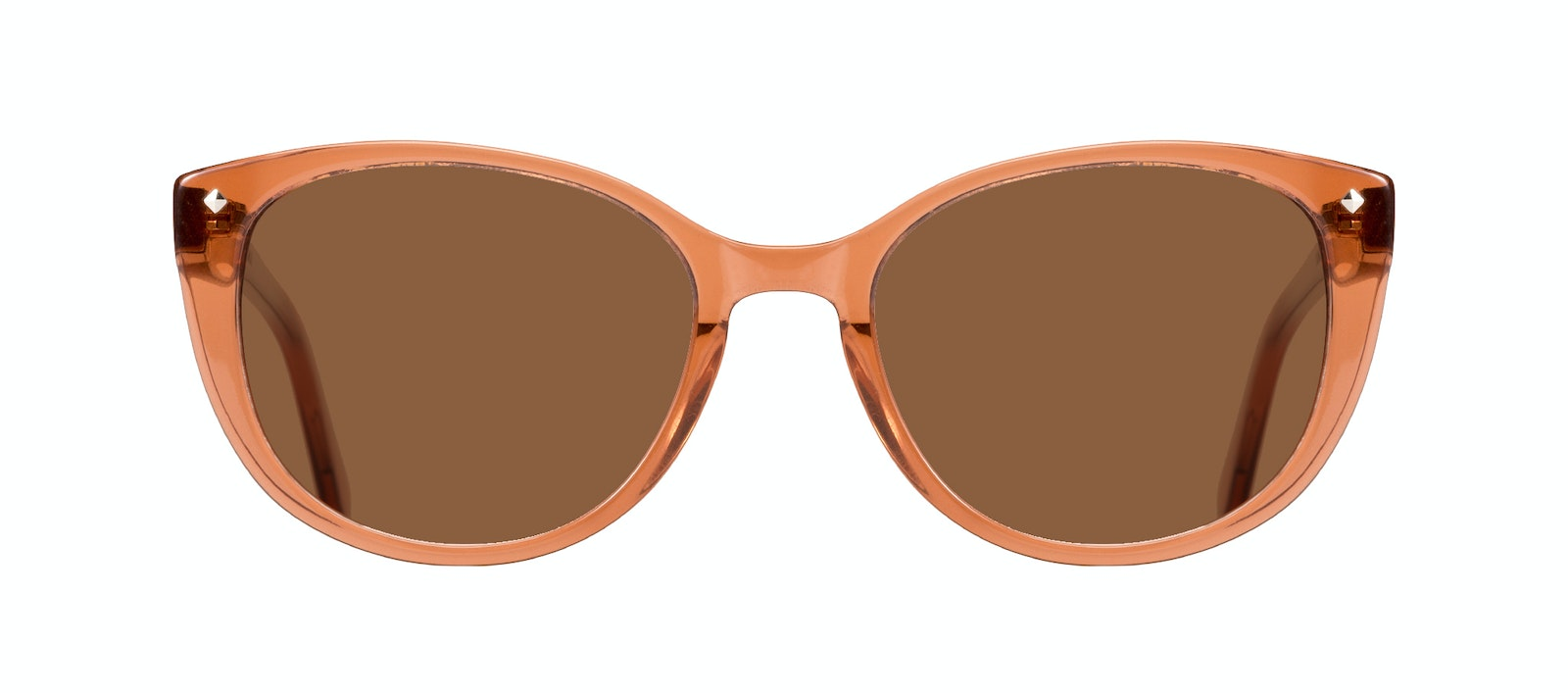 Affordable Fashion Glasses Cat Eye Sunglasses Women Mist Umber Front