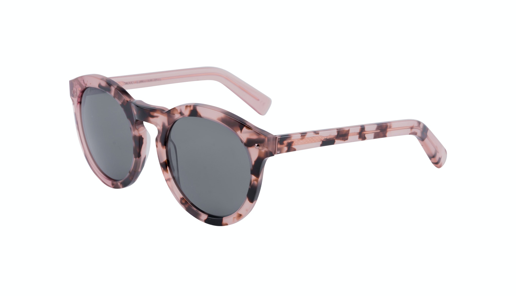 Affordable Fashion Glasses Round Sunglasses Women Mood Blush Tortoise Tilt