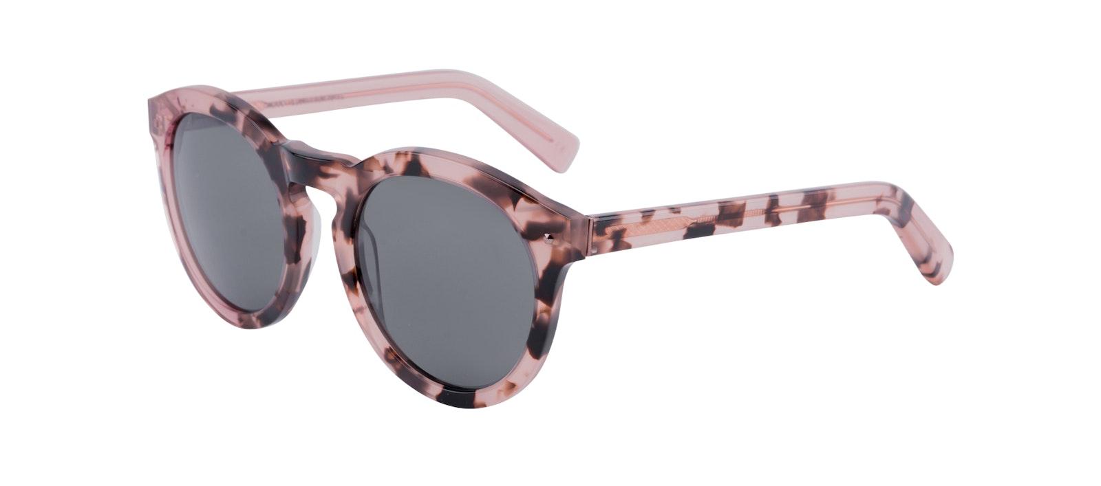 Affordable Fashion Glasses Round Sunglasses Women Mood Blush Tortoise Tilt