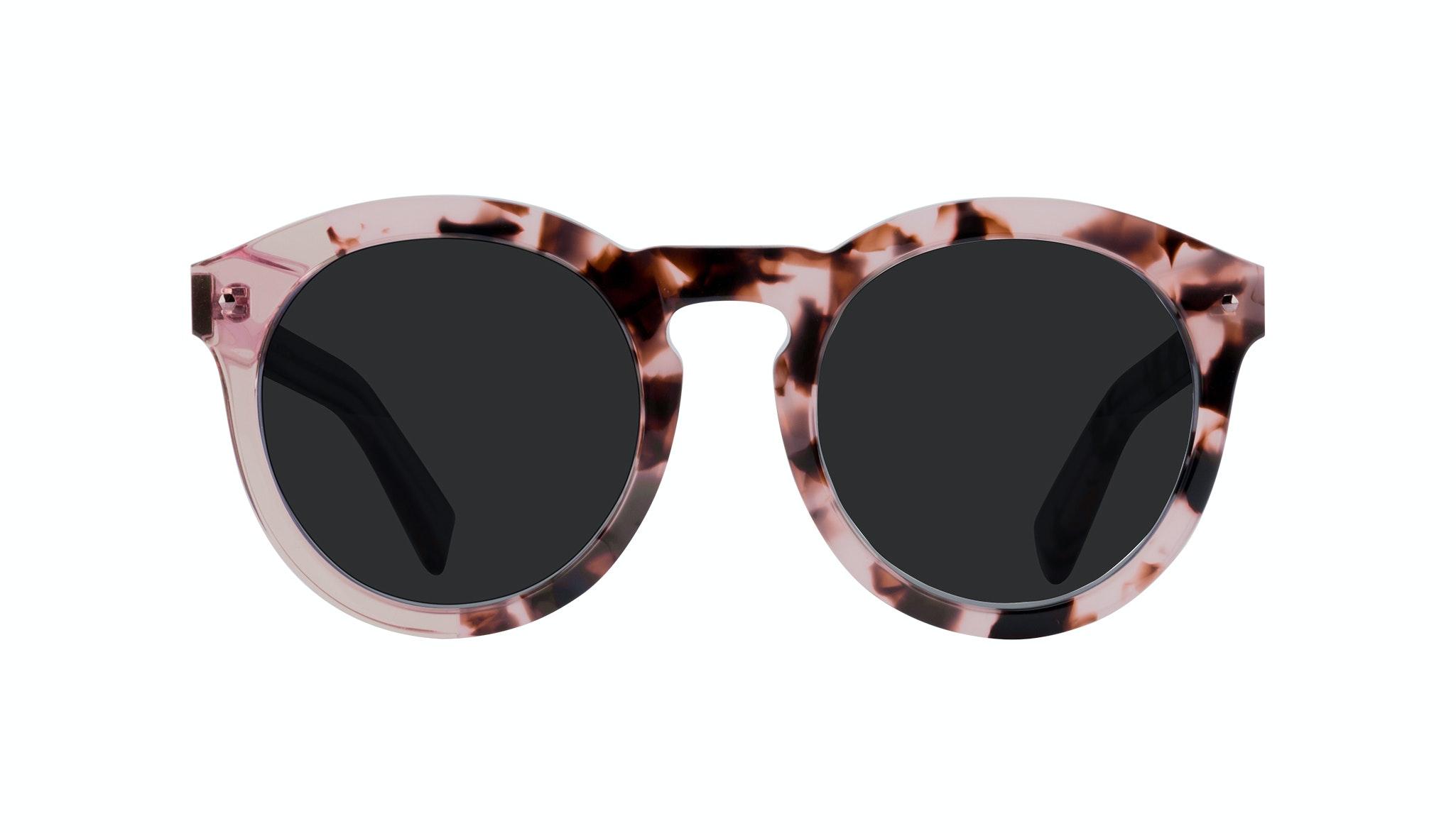 Affordable Fashion Glasses Round Sunglasses Women Mood Blush Tortoise Front