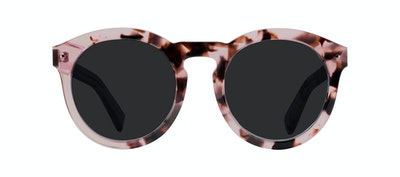 Affordable Fashion Glasses Round Sunglasses Women Mood Blush Tortoise Front