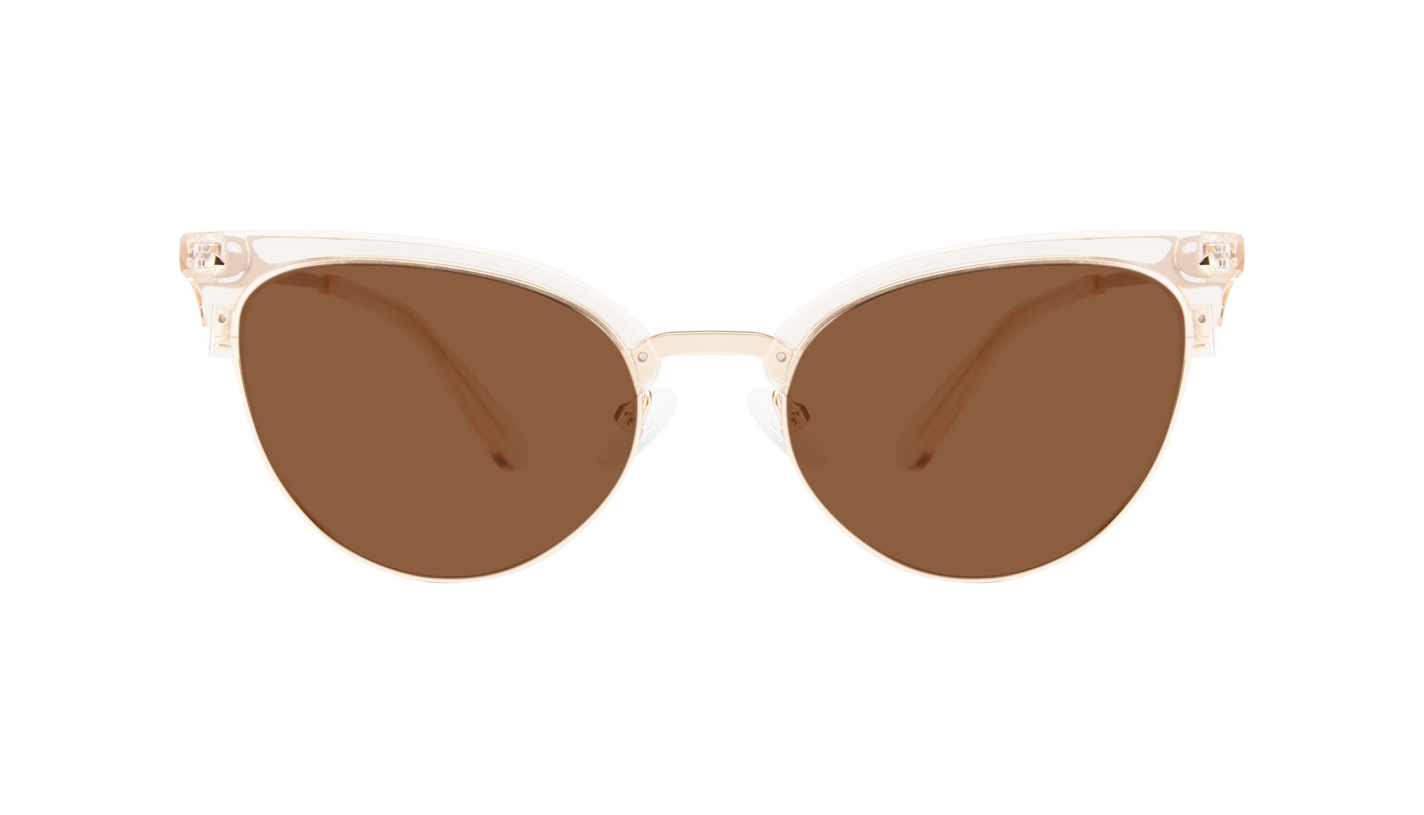 Affordable Fashion Glasses Cat Eye Daring Cateye Sunglasses Women Moon Blond Front