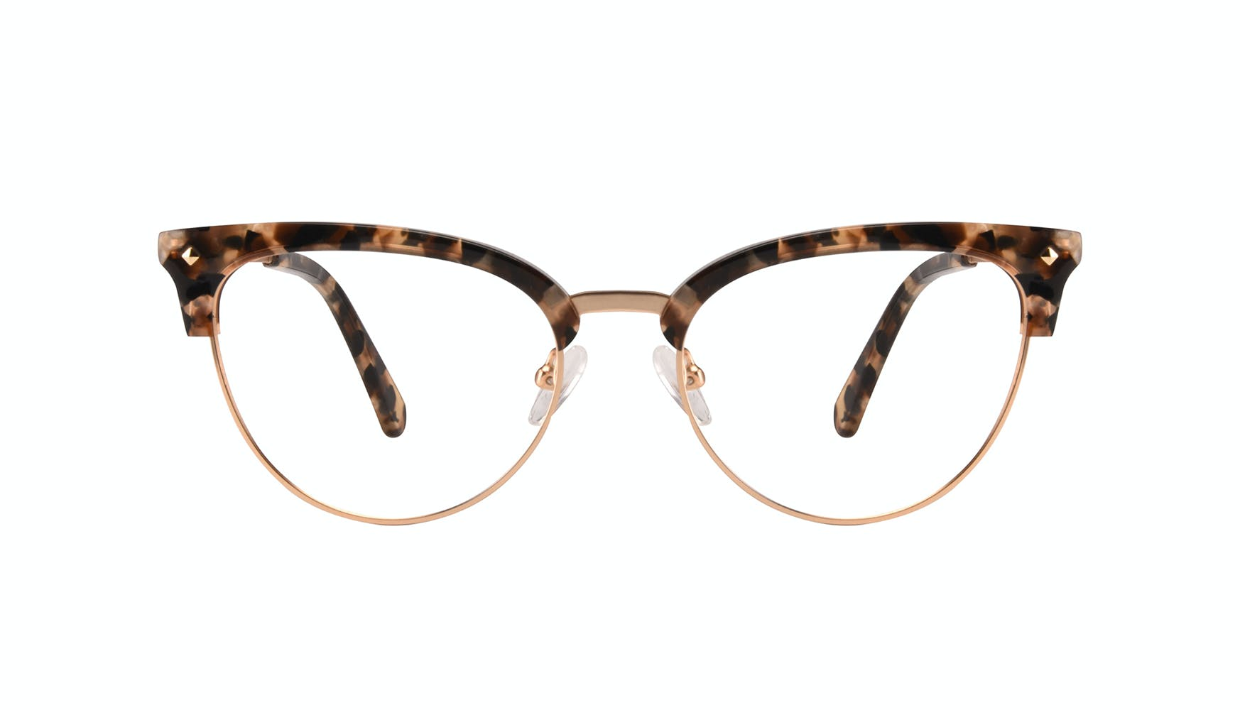 Affordable Fashion Glasses Cat Eye Daring Cateye Eyeglasses Women Moon Gold Flake Front
