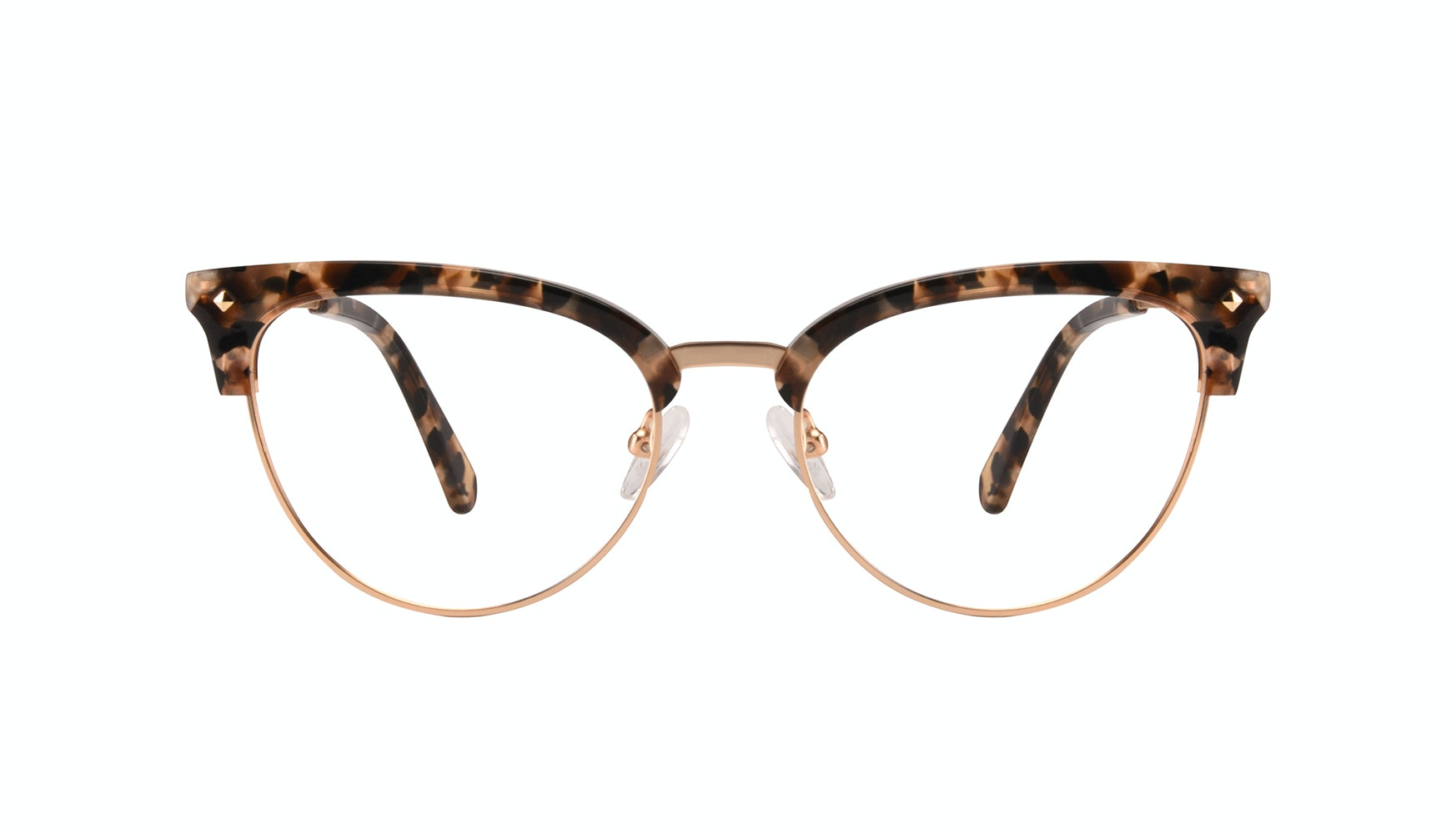 Affordable Fashion Glasses Cat Eye Eyeglasses Women Moon Gold Flake