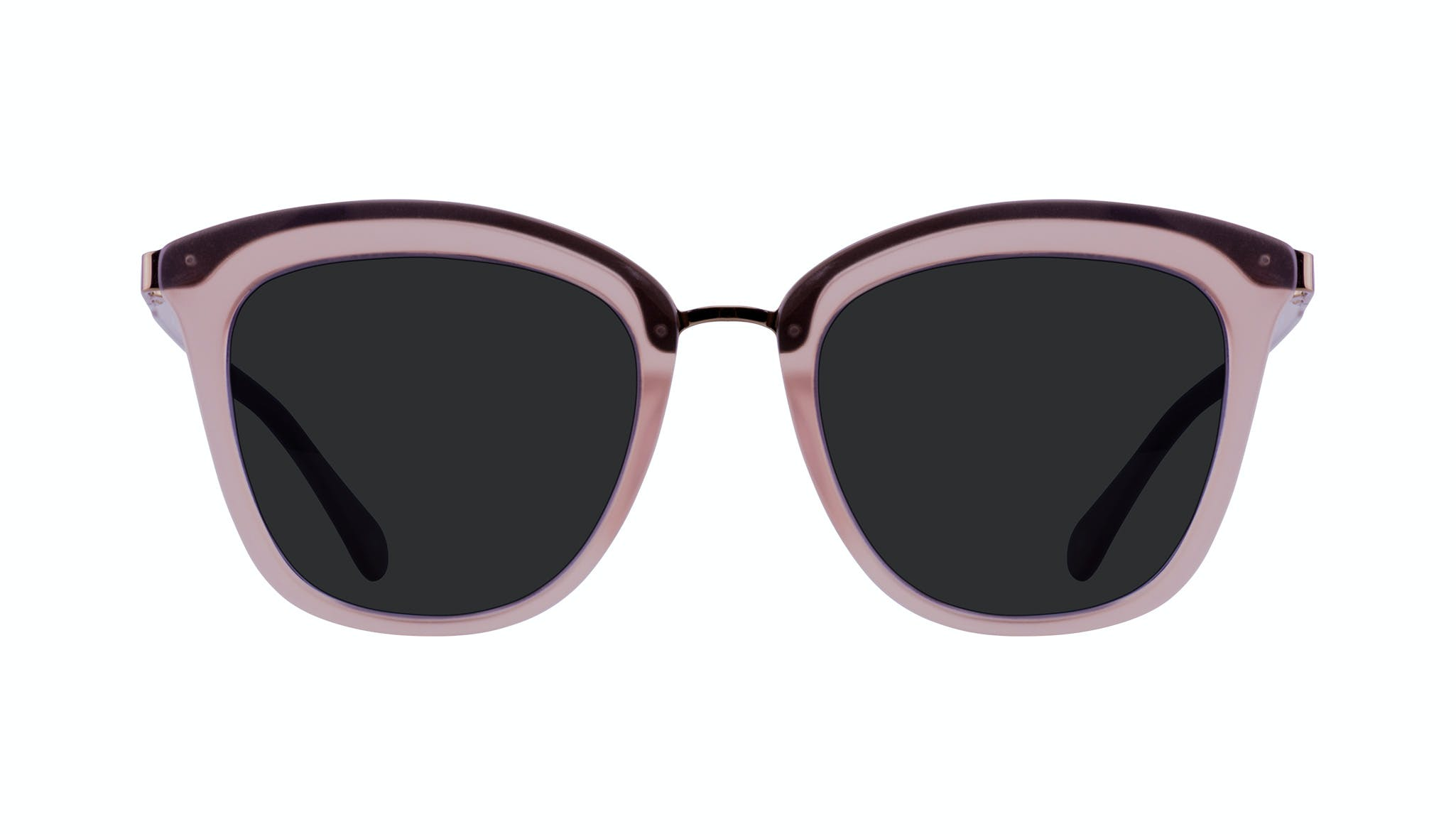 Affordable Fashion Glasses Rectangle Square Sunglasses Women More Blush Front