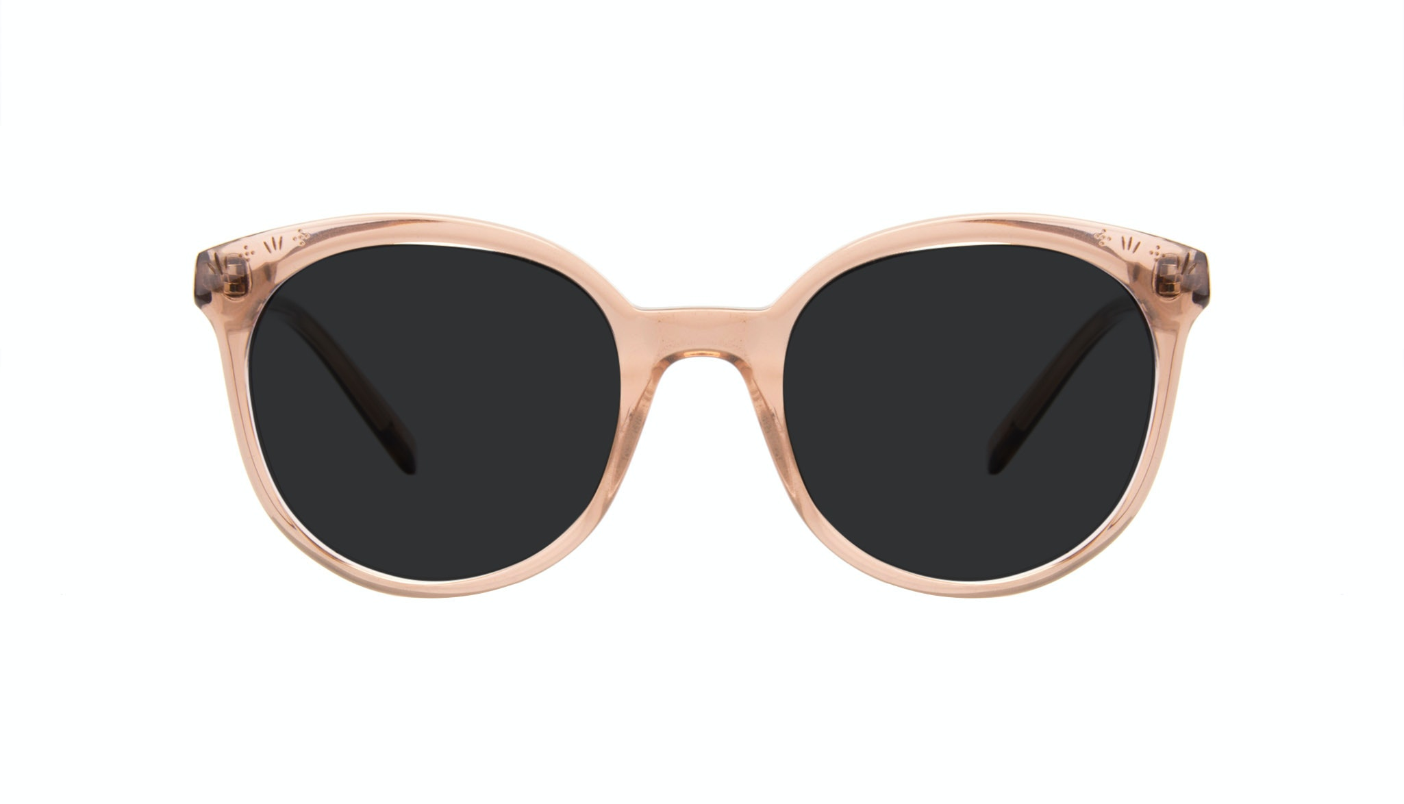 Affordable Fashion Glasses Round Sunglasses Women Must Rose Front