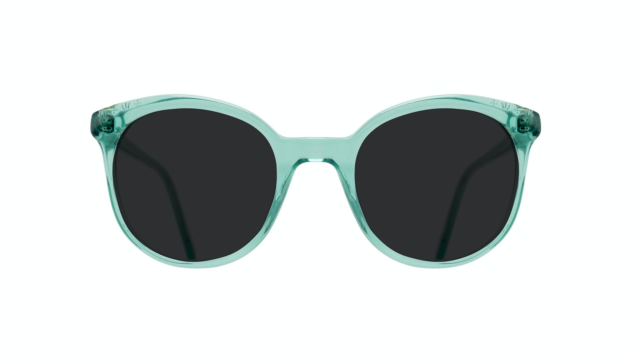 Affordable Fashion Glasses Round Sunglasses Women Must Emeraude Front
