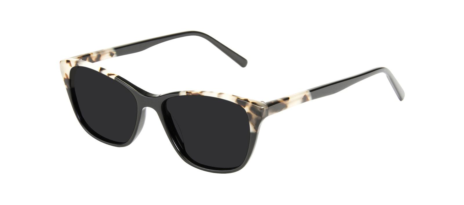 Affordable Fashion Glasses Cat Eye Sunglasses Women Myrtle Petite Ebony Granite Tilt