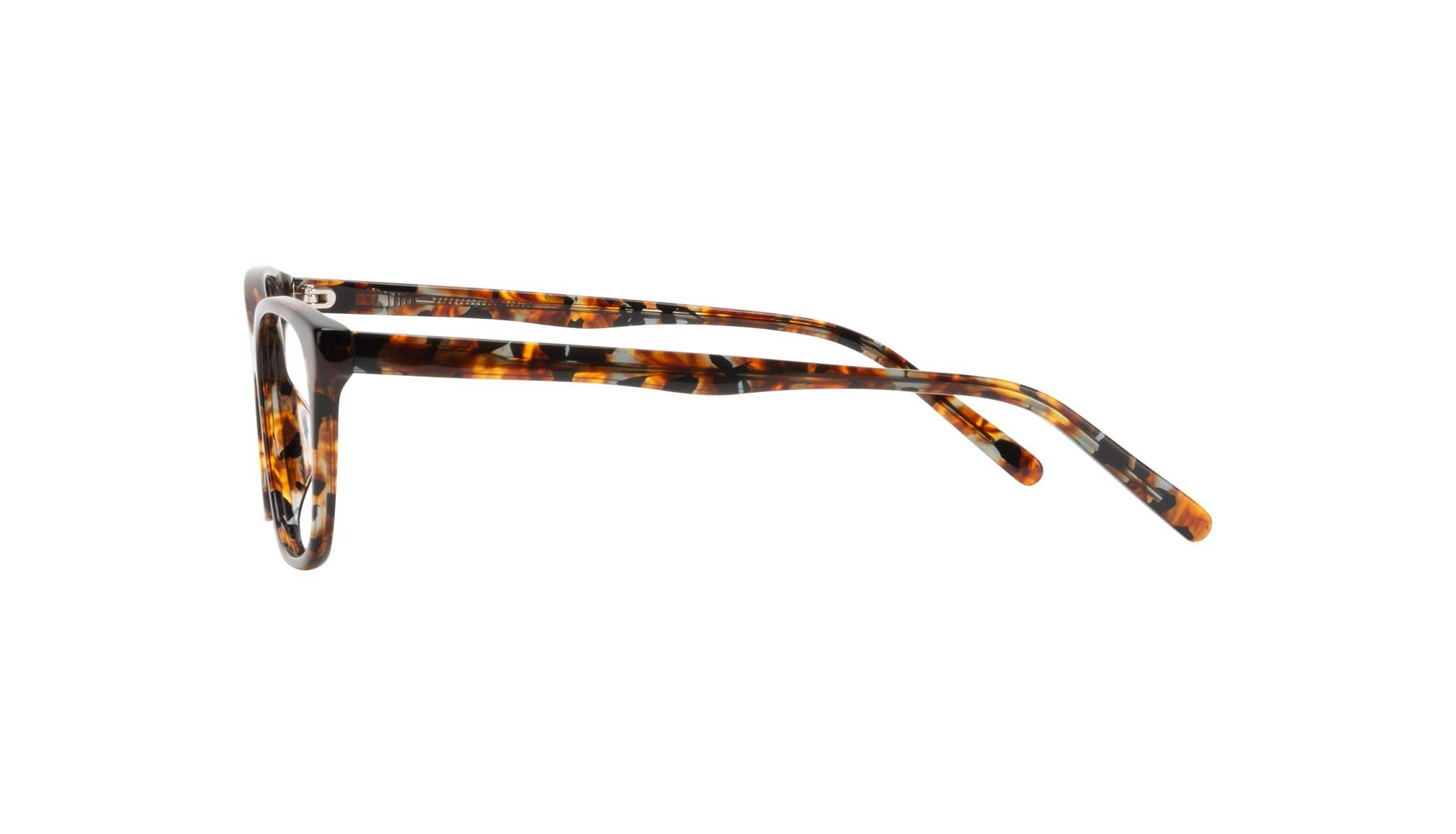 Affordable Fashion Glasses Cat Eye Eyeglasses Women Myrtle Petite Mahogany Side