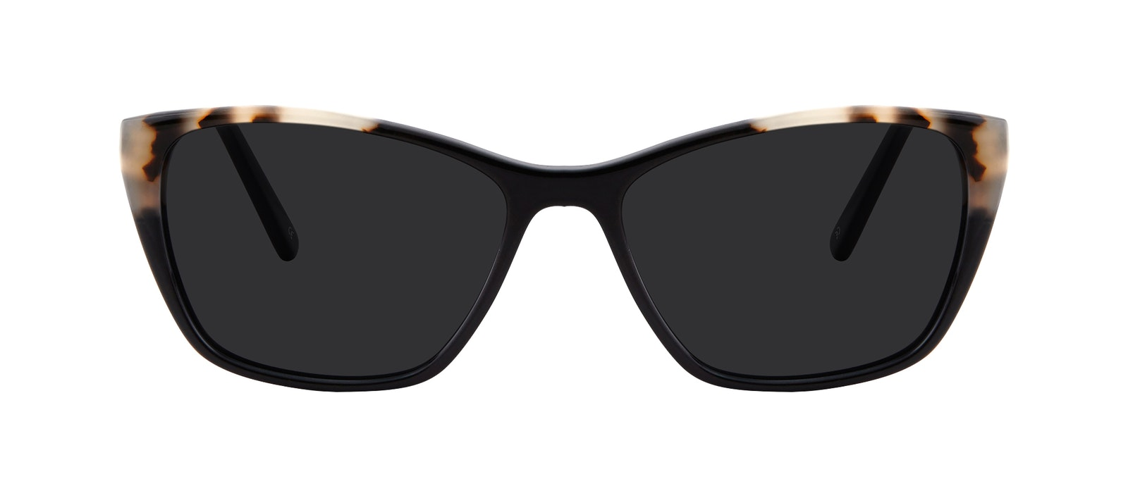 Affordable Fashion Glasses Cat Eye Rectangle Sunglasses Women Myrtle Ebony Granite Front