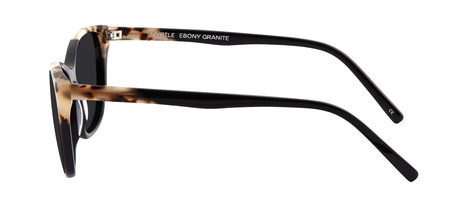 Affordable Fashion Glasses Cat Eye Rectangle Sunglasses Women Myrtle Ebony Granite Side