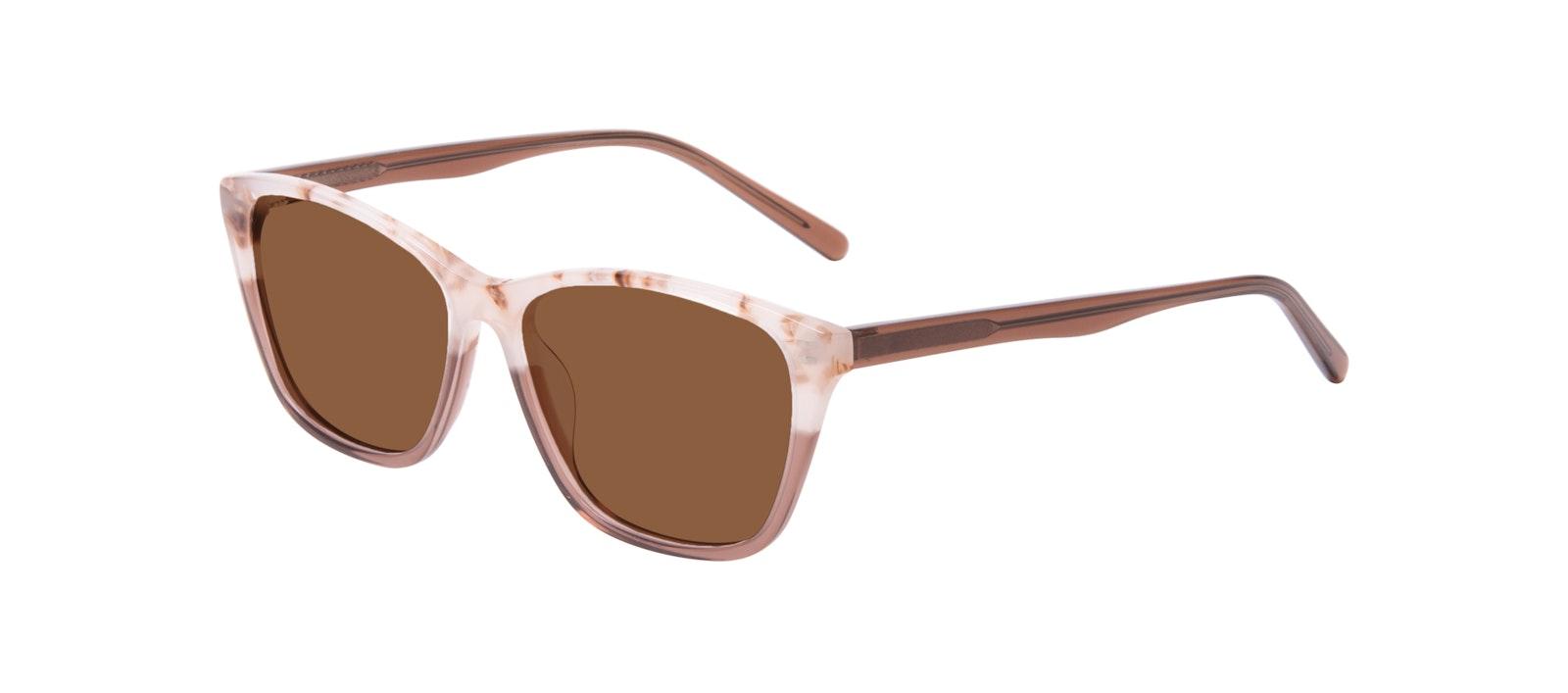 Affordable Fashion Glasses Cat Eye Rectangle Sunglasses Women Myrtle Frosted Sand Tilt