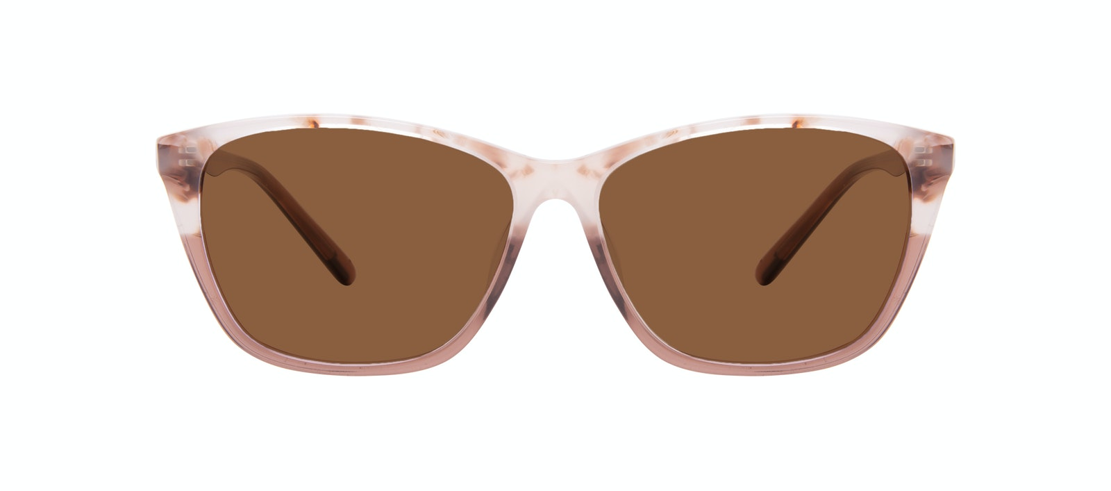 Affordable Fashion Glasses Cat Eye Rectangle Sunglasses Women Myrtle Frosted Sand Front