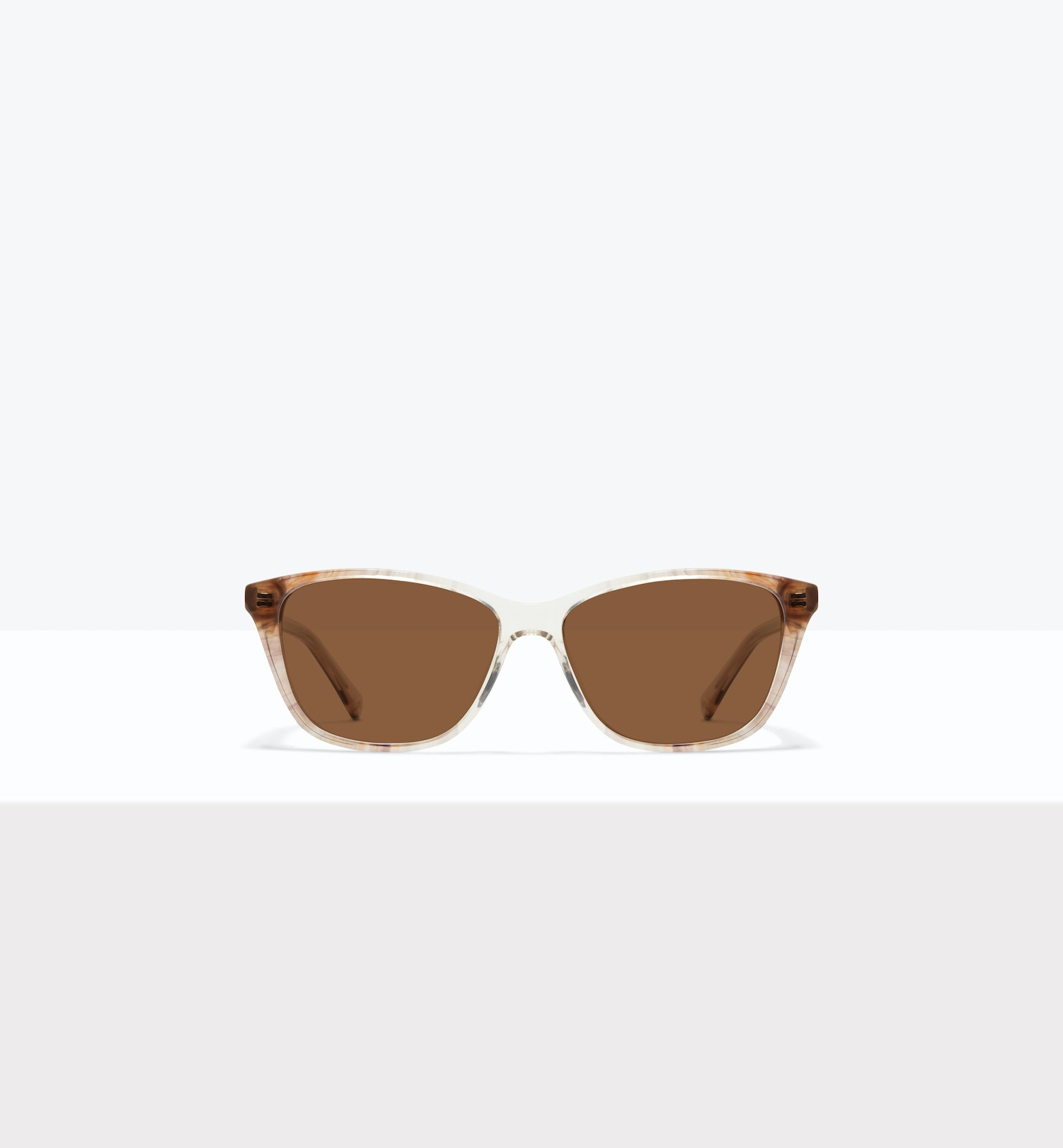 Affordable Fashion Glasses Cat Eye Rectangle Sunglasses Women Myrtle M Sandstone