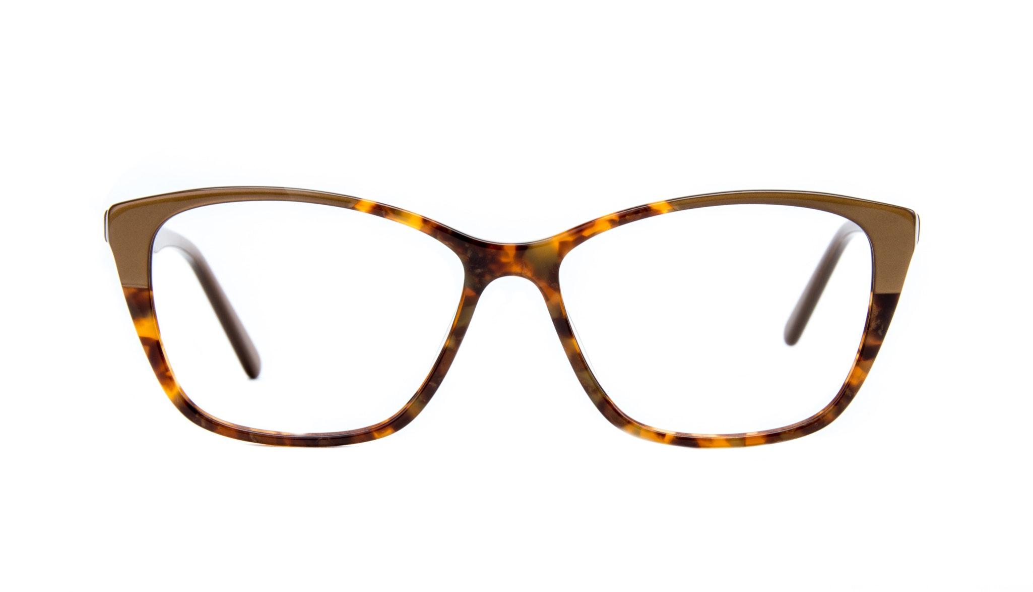Affordable Fashion Glasses Cat Eye Rectangle Eyeglasses Women Myrtle Tort Gold Front