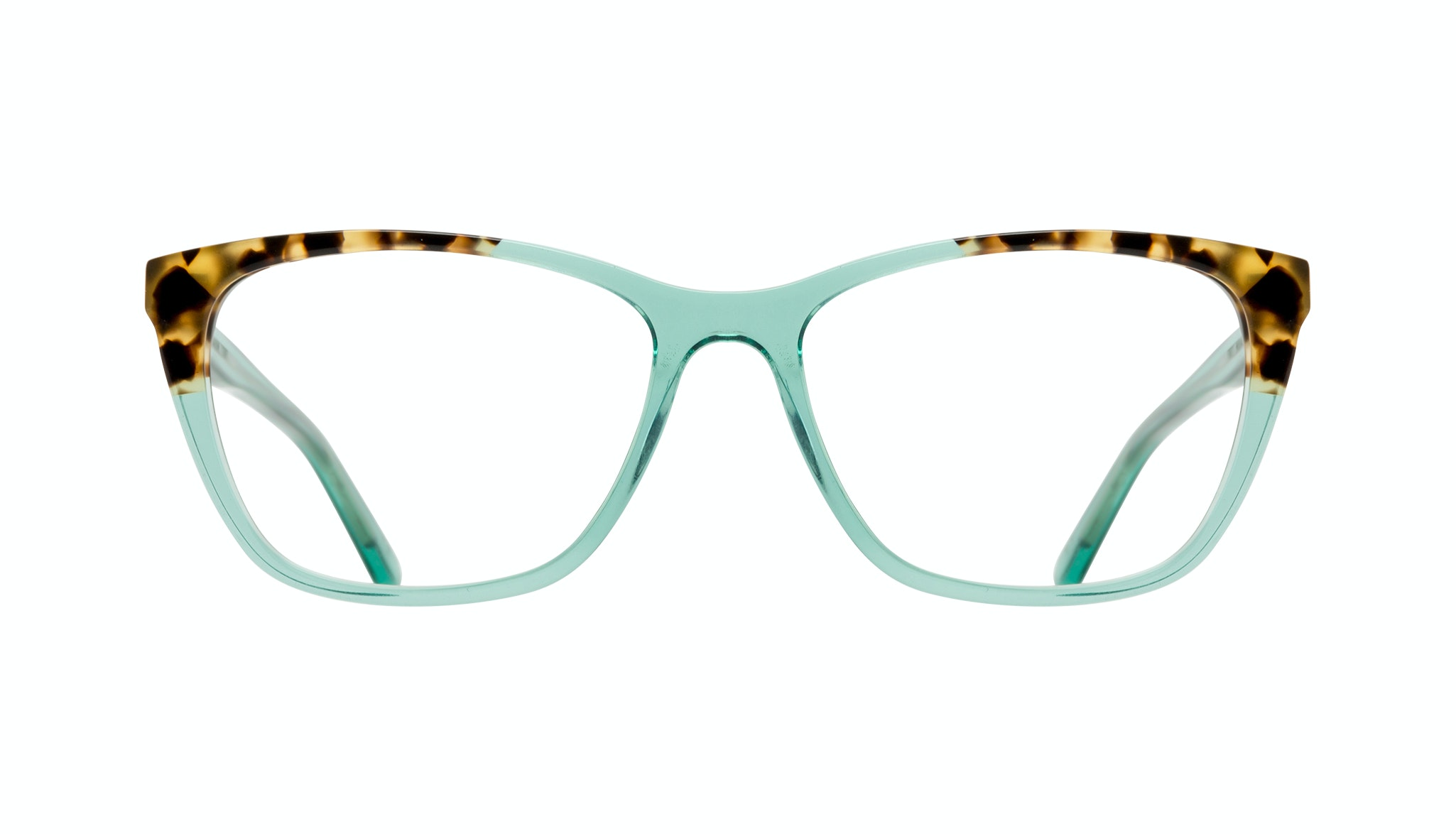 Affordable Fashion Glasses Cat Eye Rectangle Eyeglasses Women Myrtle Emeraude Tort