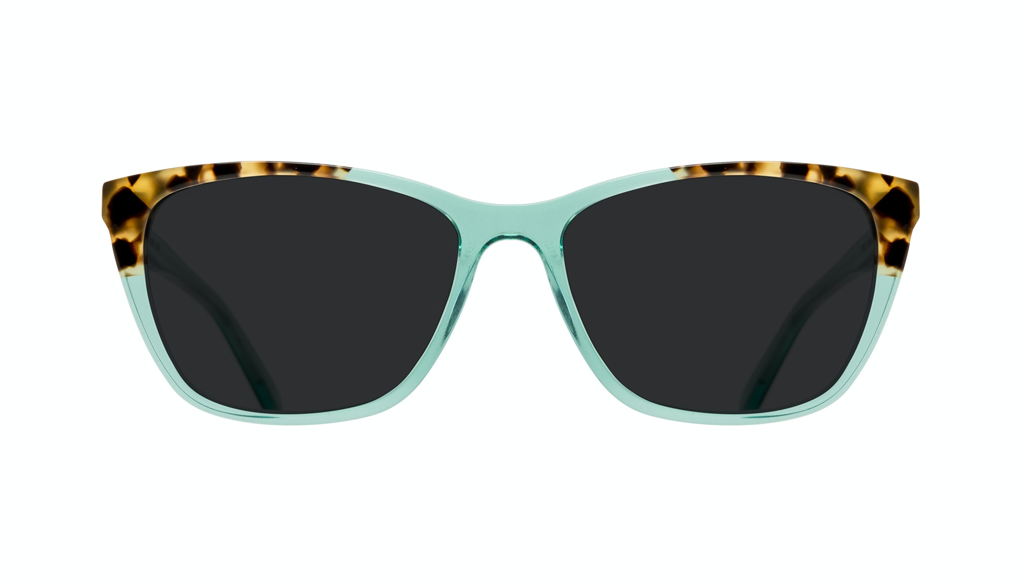 Affordable Fashion Glasses Cat Eye Rectangle Sunglasses Women Myrtle Emeraude Tort