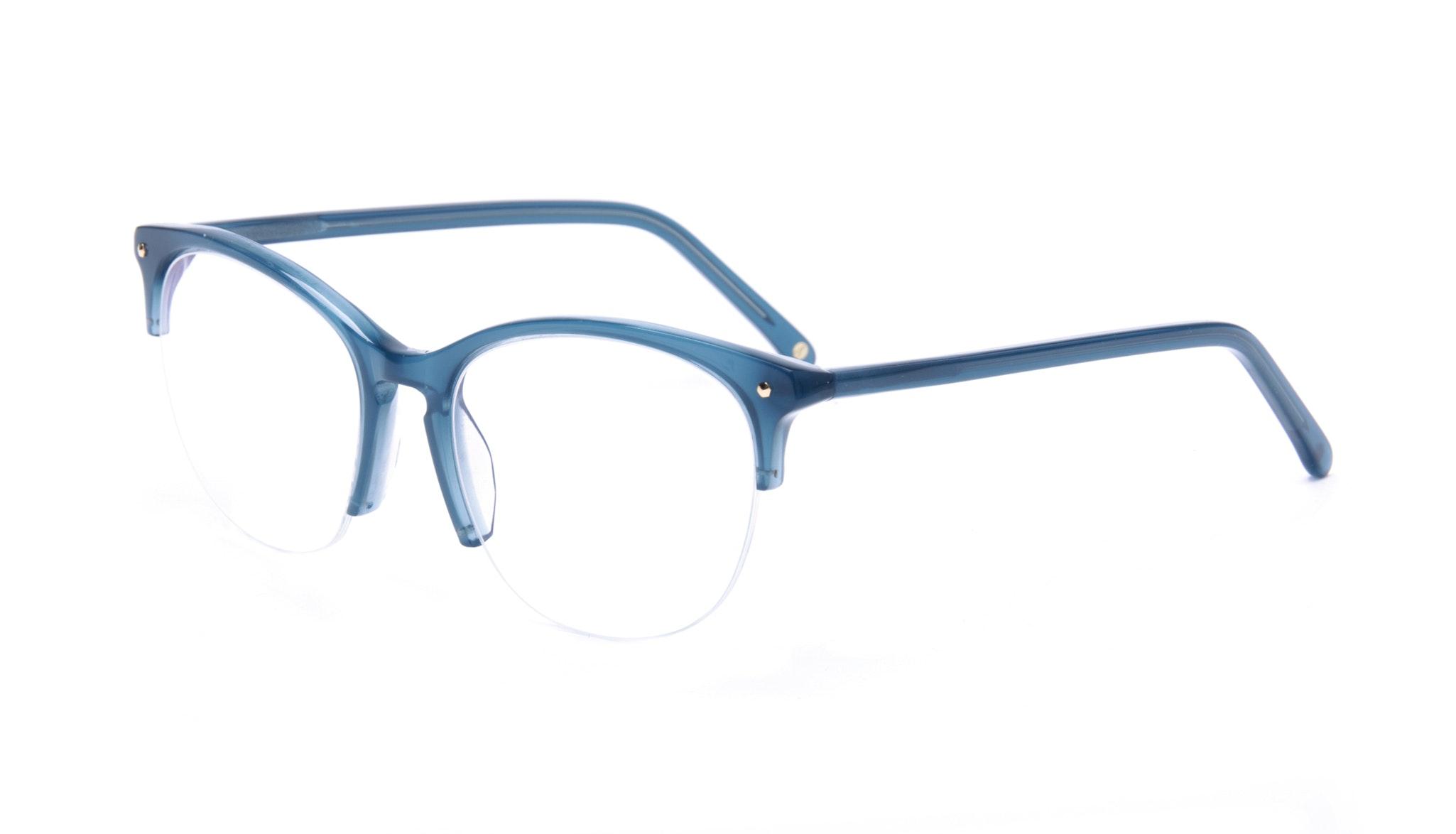 Affordable Fashion Glasses Rectangle Round Eyeglasses Women Nadine Light Marine Tilt