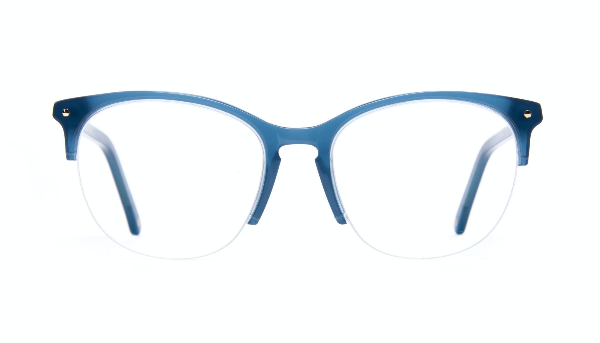 Affordable Fashion Glasses Rectangle Round Eyeglasses Women Nadine Light Marine Front