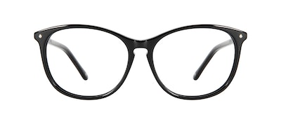 Affordable Fashion Glasses Round Eyeglasses Women Nadine Petite Pitch Black Front