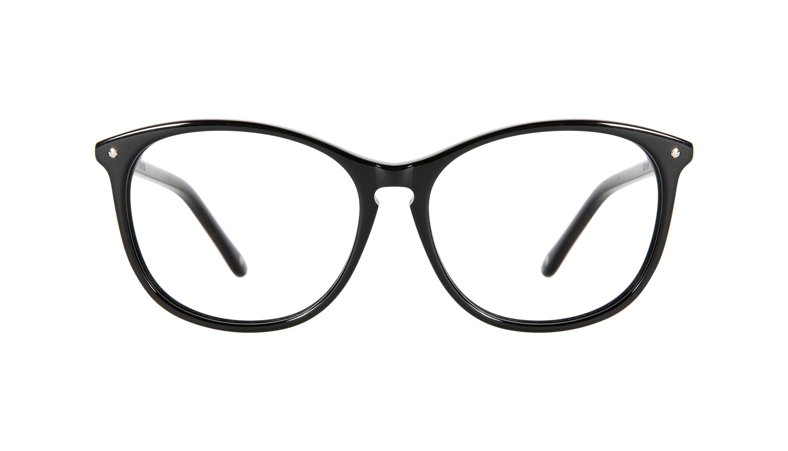 Affordable Fashion Glasses Round Eyeglasses Women Nadine Petite Pitch Black