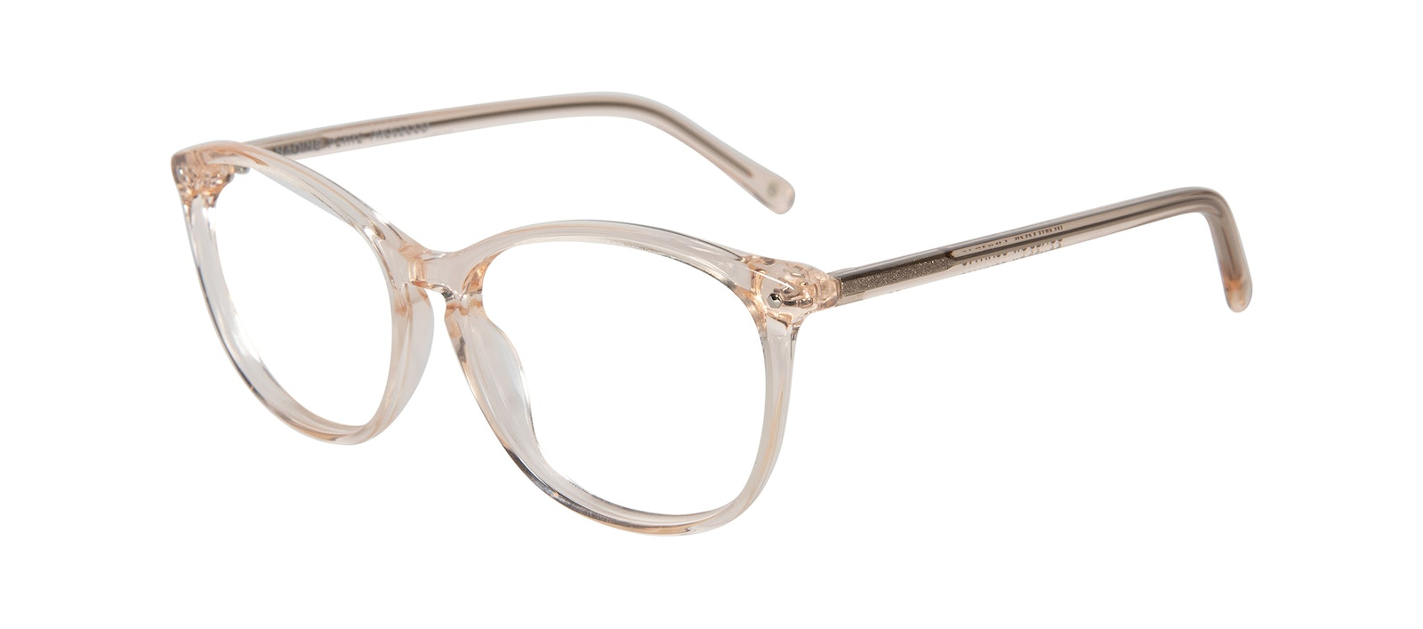 Affordable Fashion Glasses Round Eyeglasses Women Nadine Petite Prosecco Tilt