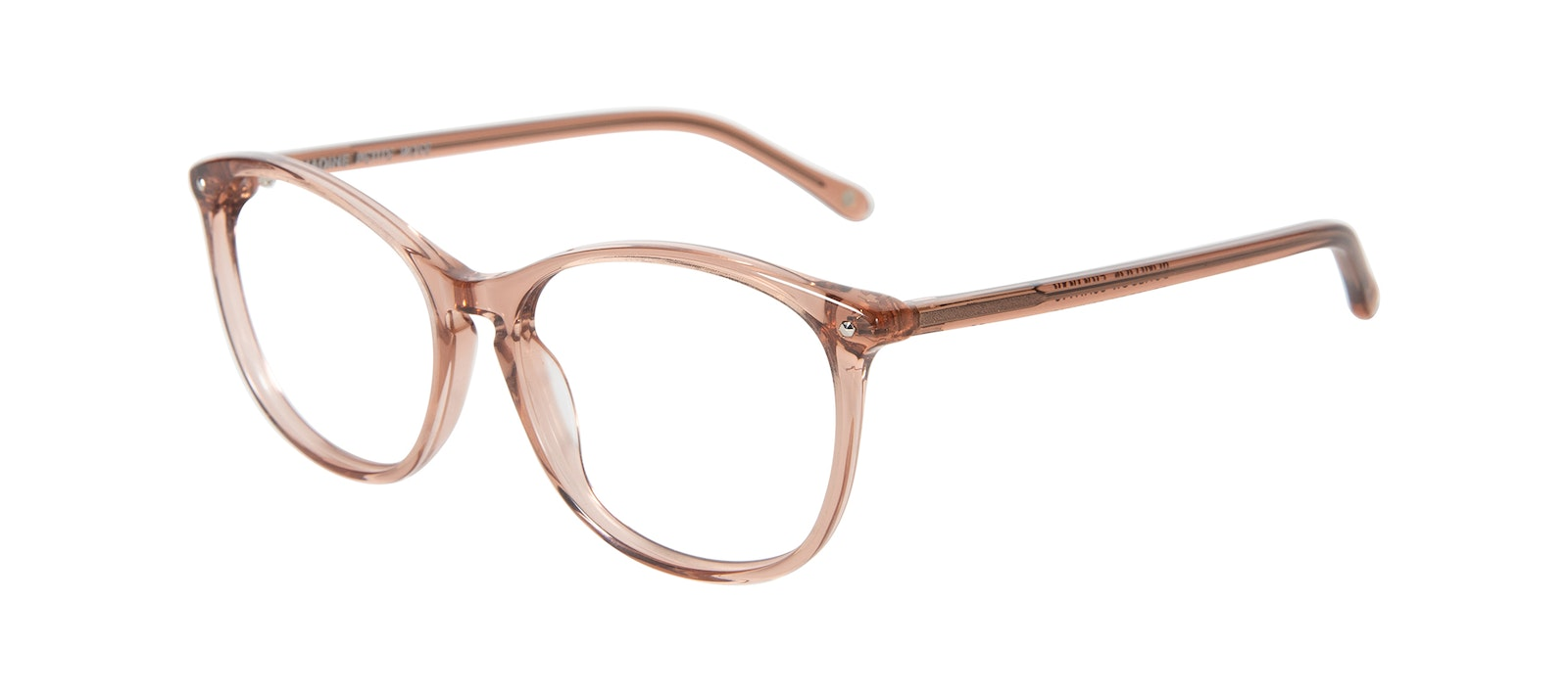 Affordable Fashion Glasses Round Eyeglasses Women Nadine Petite Rose Tilt