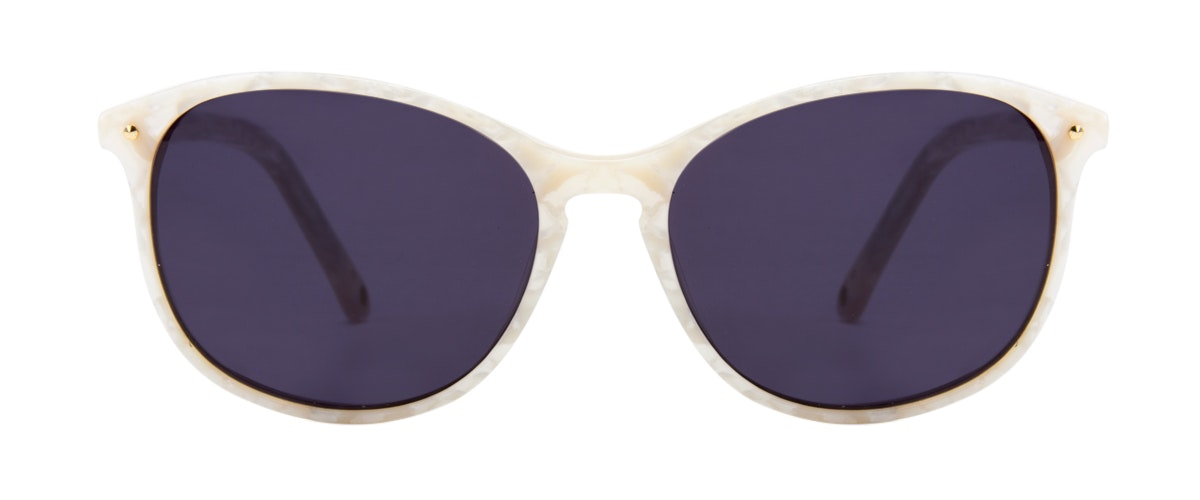 Affordable Fashion Glasses Rectangle Round Sunglasses Women Nadine Oyster