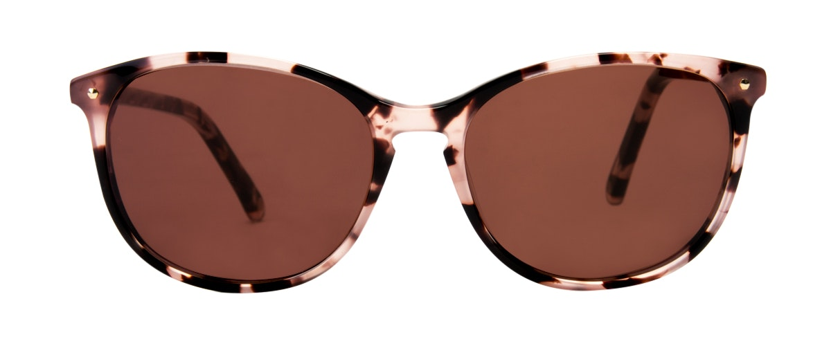 Affordable Fashion Glasses Rectangle Round Sunglasses Women Nadine Pink Tortoise