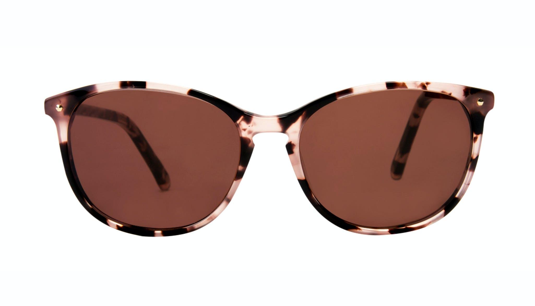 Affordable Fashion Glasses Rectangle Square Round Sunglasses Women Nadine Pink Tortoise Front