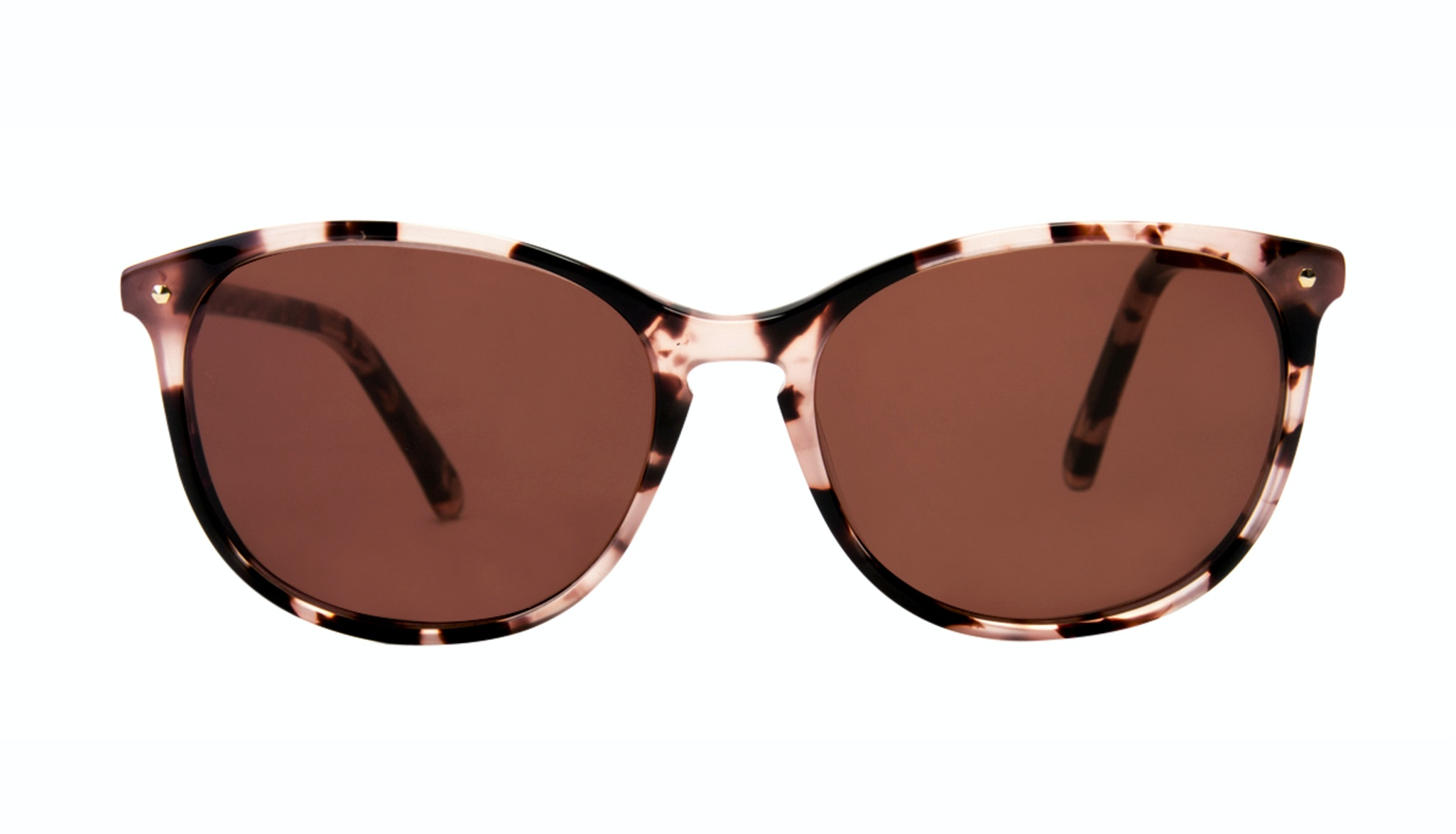Affordable Fashion Glasses Rectangle Square Round Sunglasses Women Nadine Pink Tortoise Front