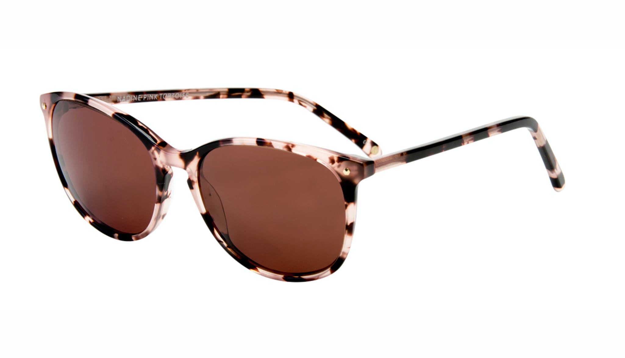 Affordable Fashion Glasses Rectangle Square Round Sunglasses Women Nadine Pink Tortoise Tilt