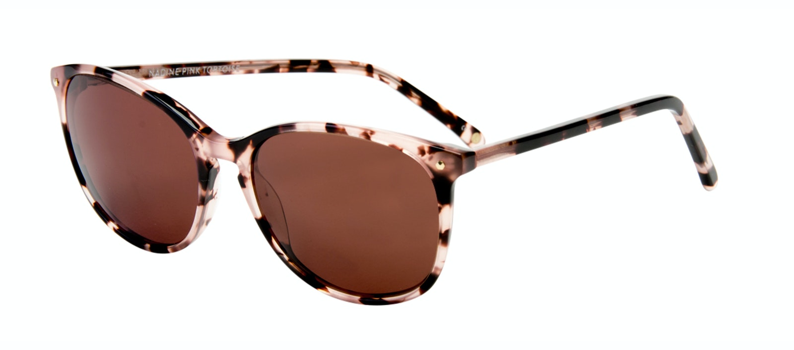 Affordable Fashion Glasses Rectangle Square Round Sunglasses Women Nadine Pink Tortoise Tilt