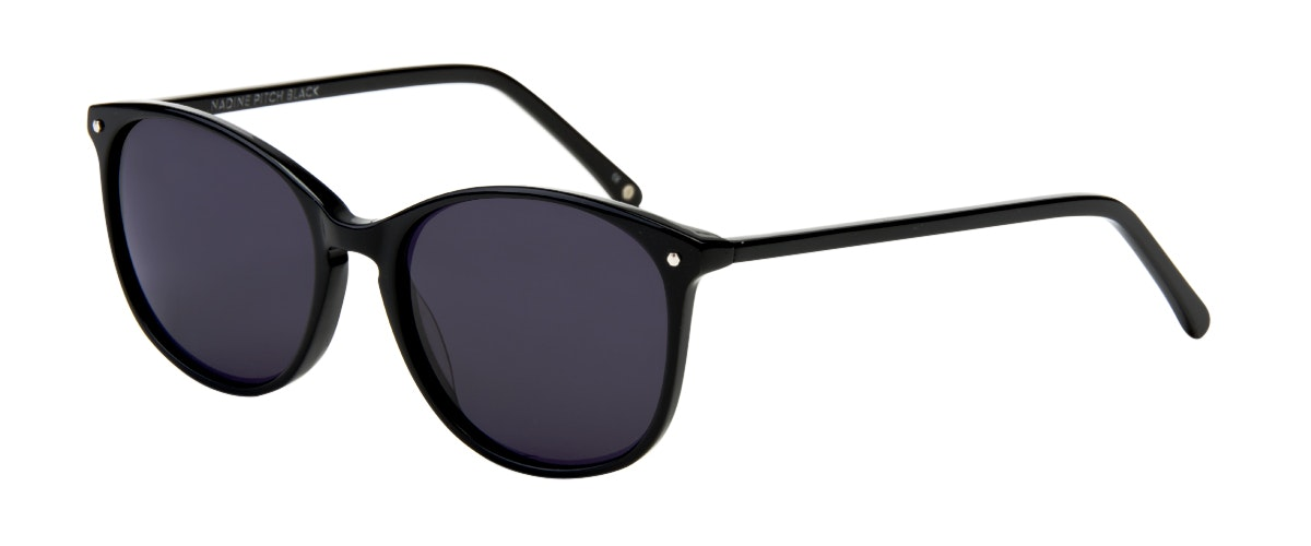 black sunglasses for women  Women\u0027s Sunglasses - Nadine in Pitch Black