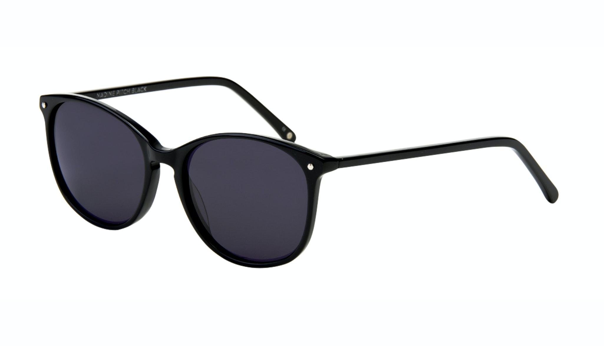 Affordable Fashion Glasses Rectangle Square Round Sunglasses Women Nadine Pitch Black Tilt