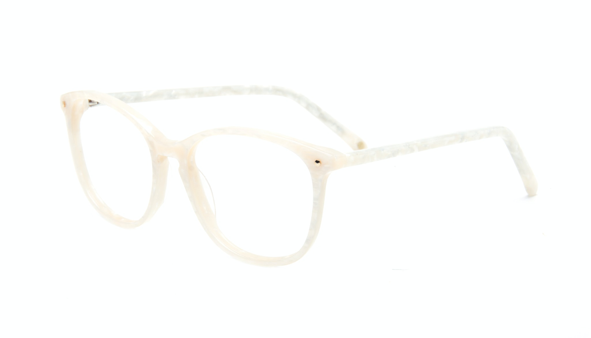 Affordable Fashion Glasses Rectangle Round Eyeglasses Women Nadine Oyster Tilt