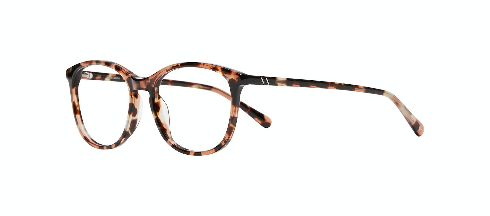 Affordable Fashion Glasses Rectangle Square Round Eyeglasses Women Nadine S Pink Tortoise Tilt