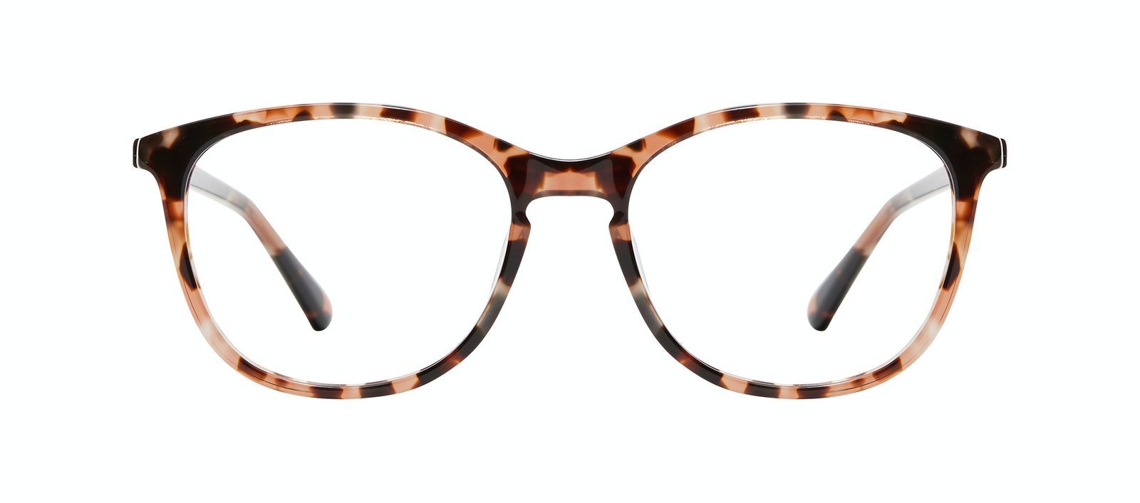 Affordable Fashion Glasses Rectangle Square Round Eyeglasses Women Nadine M Pink Tortoise Front