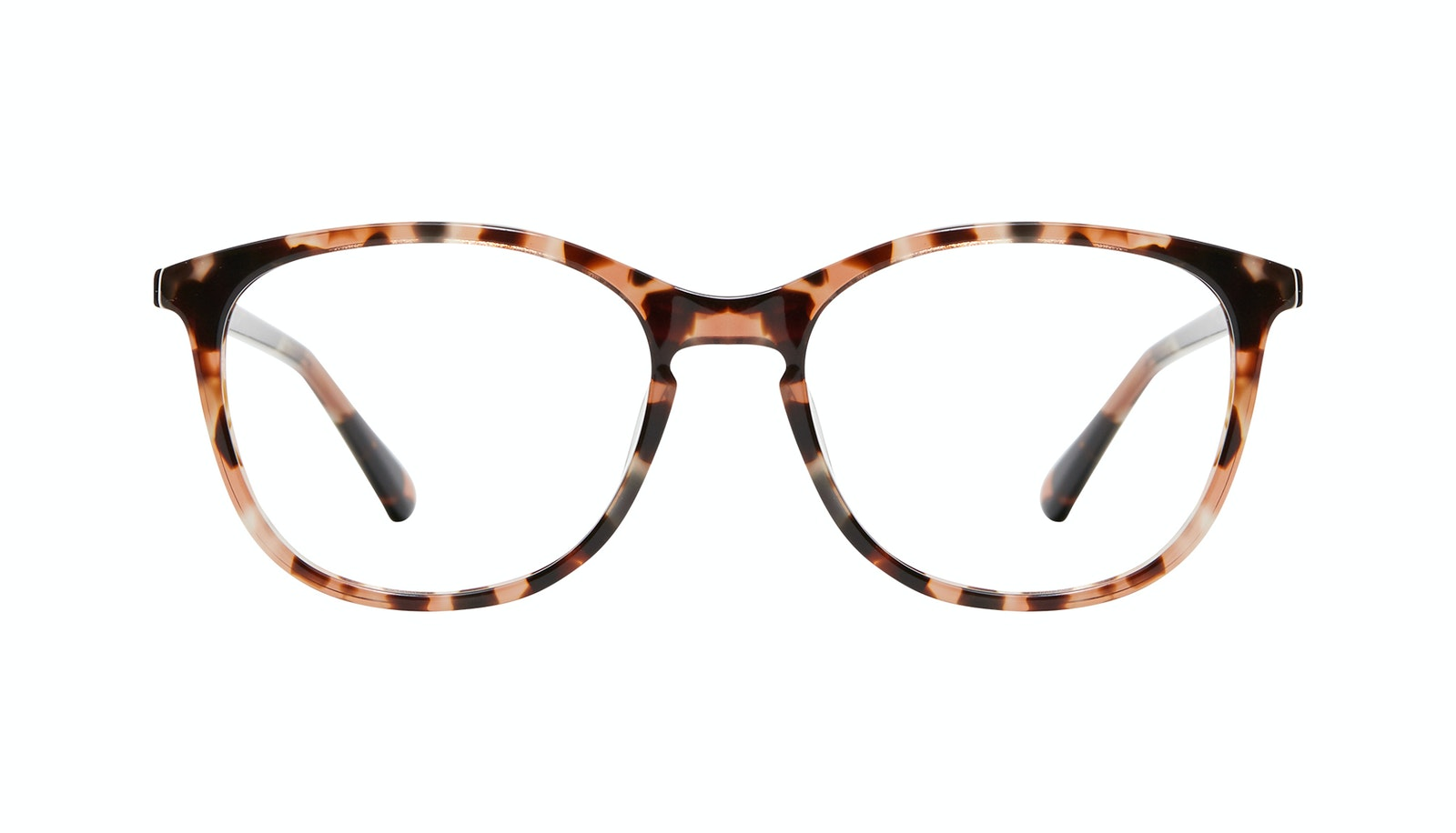 Affordable Fashion Glasses Rectangle Square Round Eyeglasses Women Nadine XL Pink Tortoise