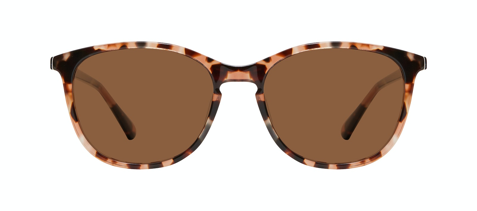 Affordable Fashion Glasses Rectangle Square Round Sunglasses Women Nadine XL Pink Tortoise Front