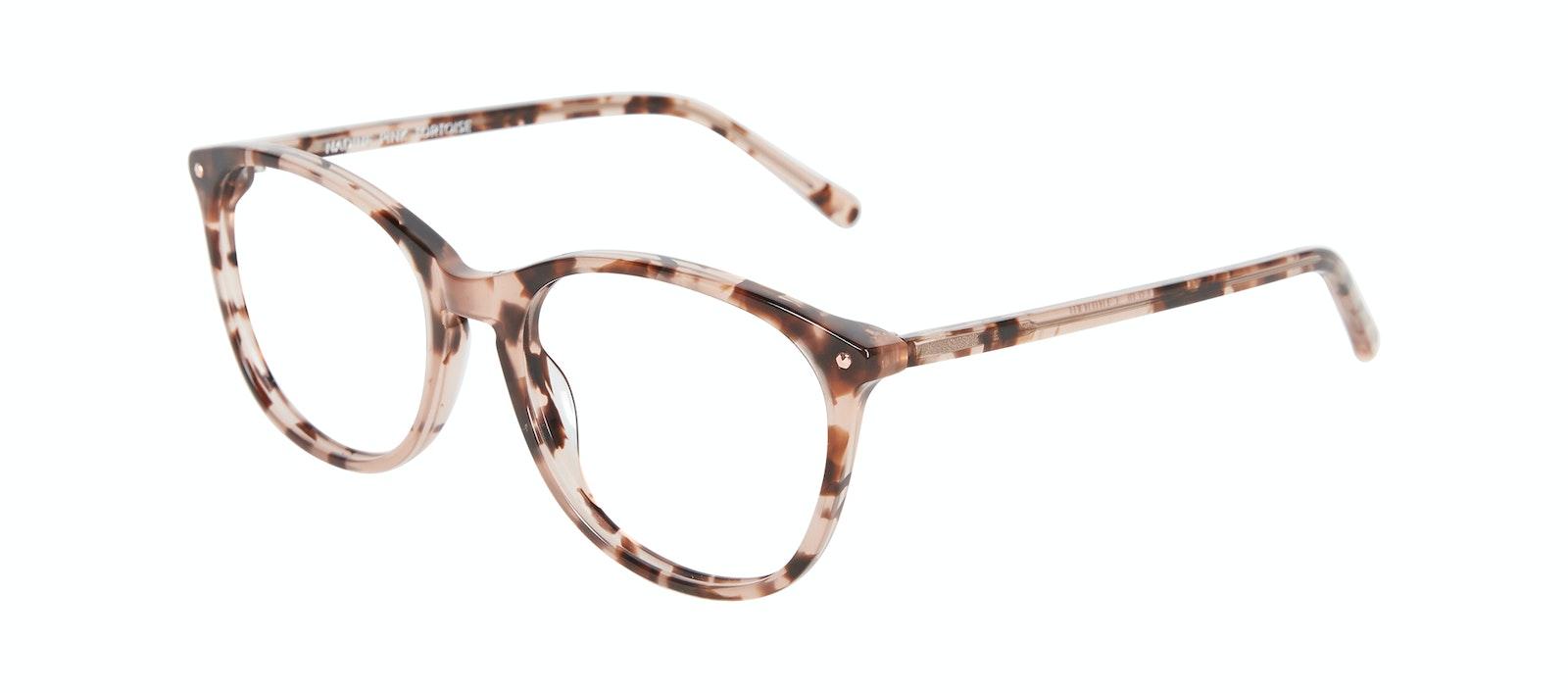 Affordable Fashion Glasses Rectangle Square Round Eyeglasses Women Nadine Pink Tortoise Tilt